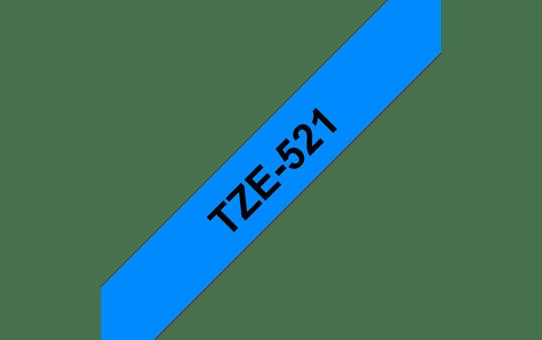 Original Brother TZe521 merketape – sort på blå, 9 mm bred