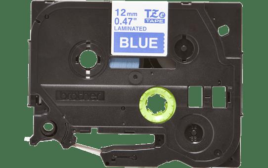 Original Brother TZe535 merketape – hvit på blå, 12 mm bred 2