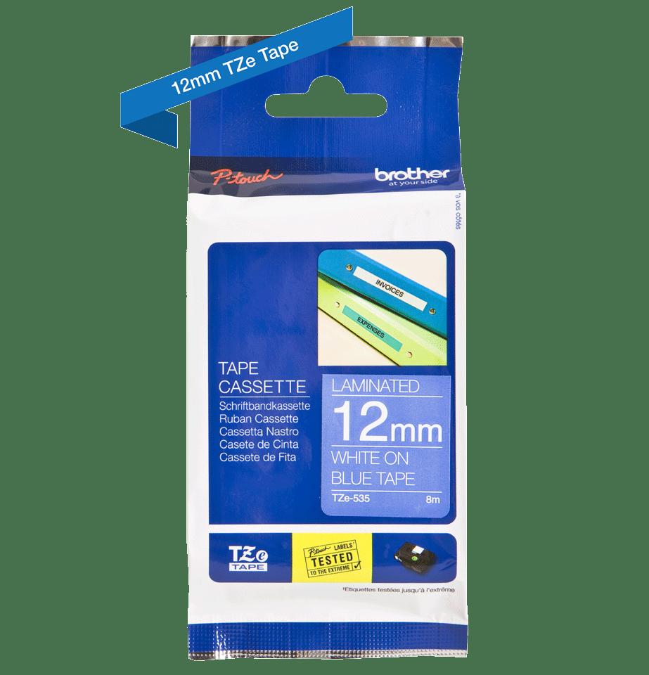 Eredeti Brother TZe-535 szalag – Kék alapon fehér, 12mm széles 3