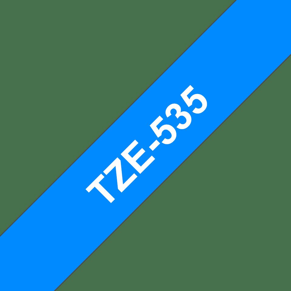 Eredeti Brother TZe-535 szalag – Kék alapon fehér, 12mm széles