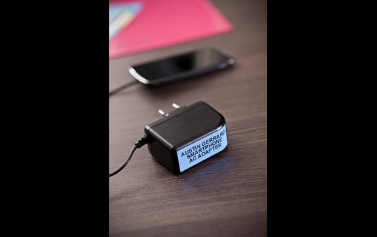 Genuine Brother TZe-541 Labelling Tape Cassette – Black on Blue, 18mm wide 4