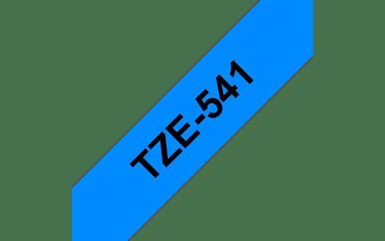 Original Brother TZe541 merketape – sort på blå, 18 mm bred