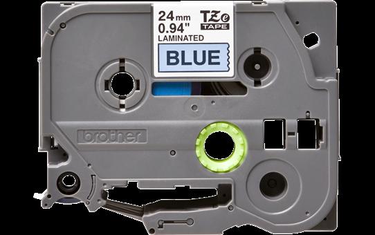 Brother TZe551 original etikettape, svart på blå, 24 mm
