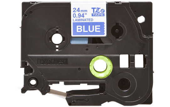 Eredeti Brother TZe-555 szalag – Kék alapon fehér, 24mm széles 2
