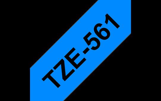 Brother TZe-561 Schriftband – schwarz auf blau 2