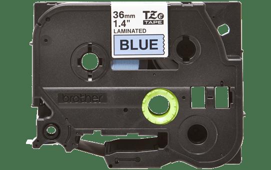 Oriģinālā Brother TZe561 melnas drukas zila uzlīmju lentes kasete, 36mm plata