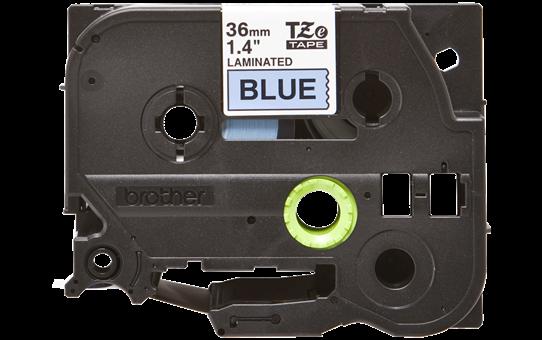 Original TZe-561 Schriftbandkassette von Brother – Schwarz auf Blau, 36mm breit 2