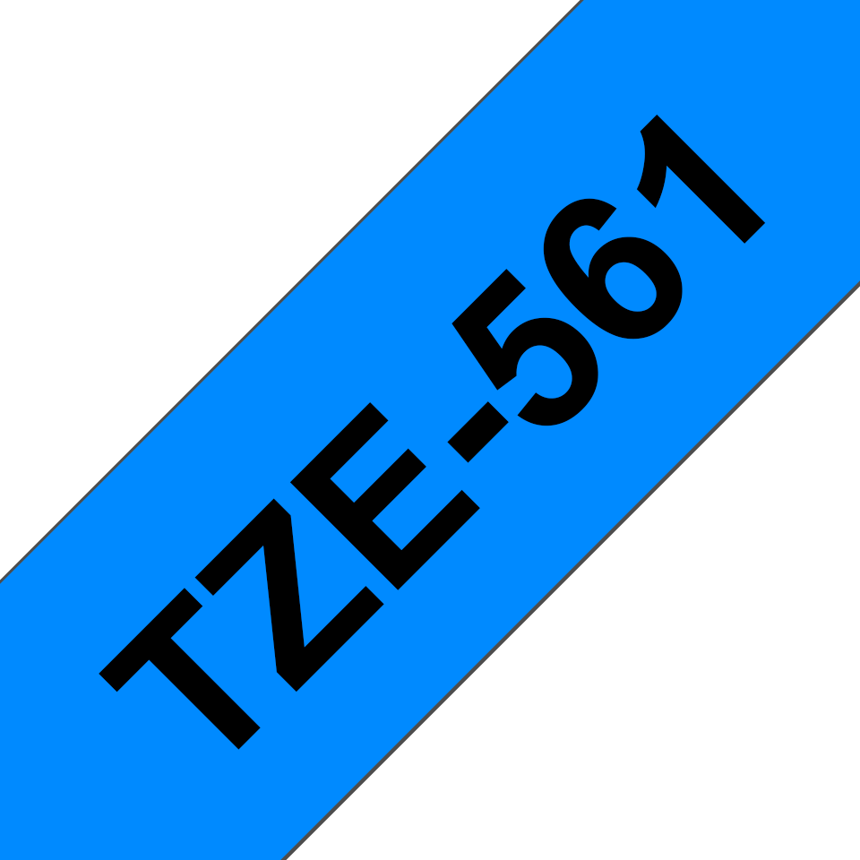 Genuine Brother TZe-561 Labelling Tape Cassette – Black on Blue, 36mm wide