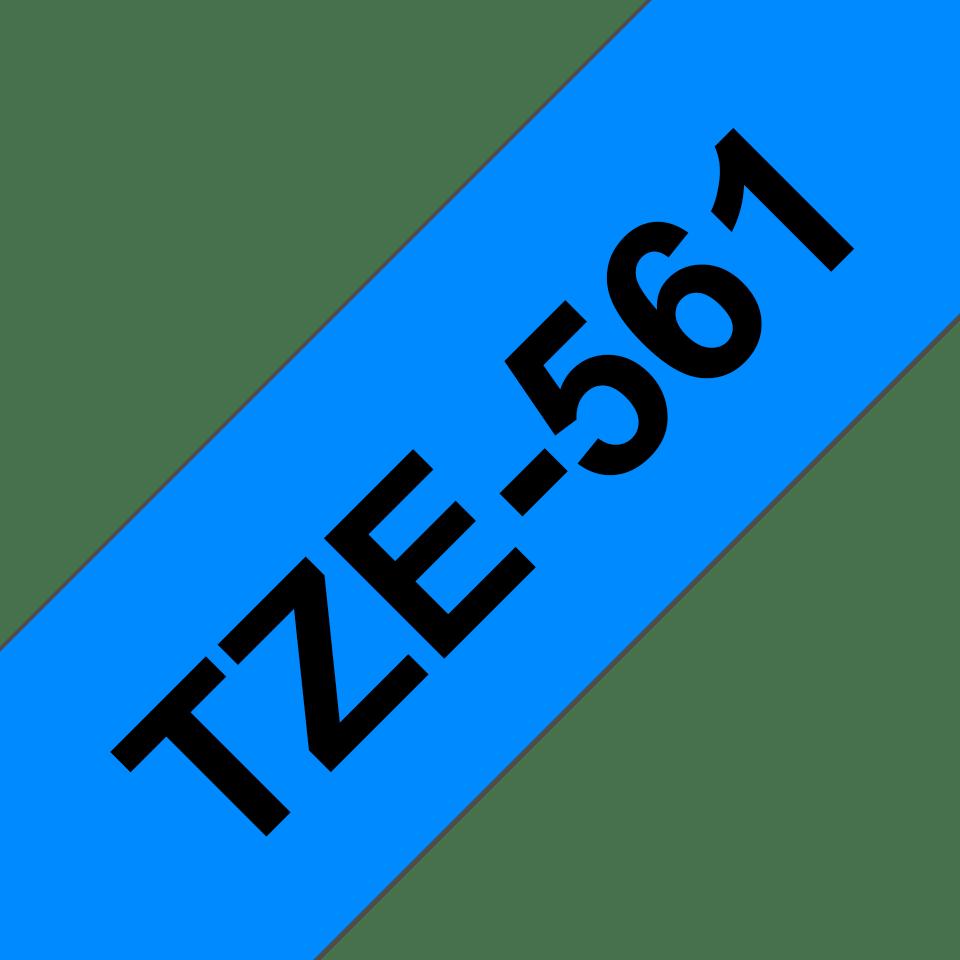 Eredeti Brother TZe-561 laminált szalag – Kék alapon fekete, 36 mm széles