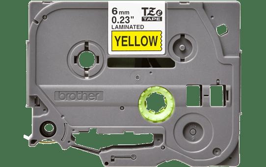 Original TZe-611 Schriftbandkassette von Brother – Schwarz auf Gelb, 6mm breit 2