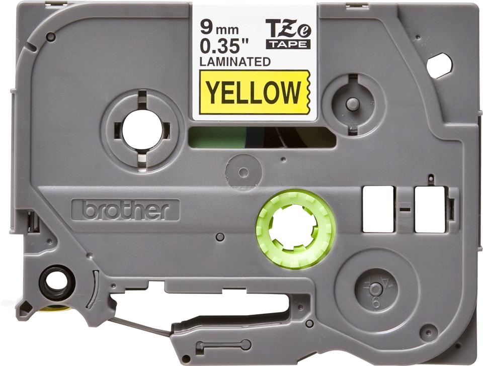 Originele Brother TZe-621 label tapecassette – zwart op geel, breedte 9 mm 2