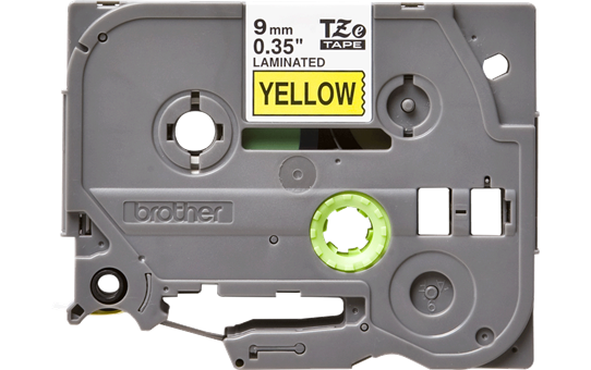 Brother original TZe621 etikettape – svart på gul, 9 mm