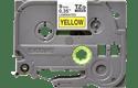 Oryginalna taśma TZe-621 firmy Brother – czarny nadruk na żółtym tle, 9mm szerokości 2