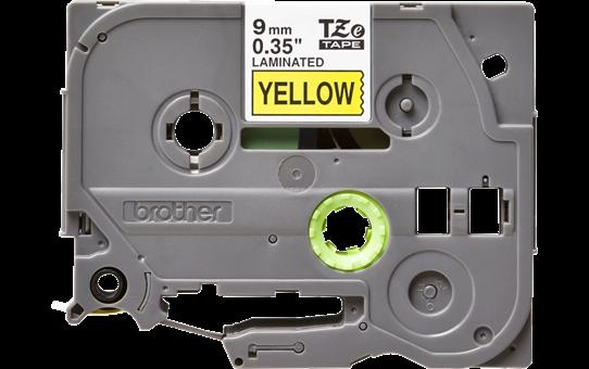 Brother TZe-621 - черен текст на жълта ламинирана лента, ширина 9mm 2