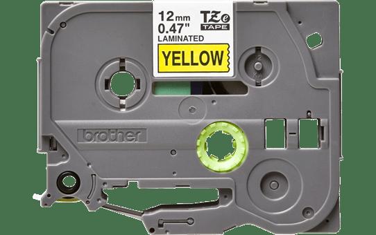 Oryginalna taśma TZe-631 firmy Brother – czarny nadruk na żółtym tle, 12mm szerokości 2
