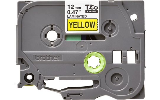Eredeti Brother TZe-631 szalag – Sárga alapon fekete, 12mm széles 2