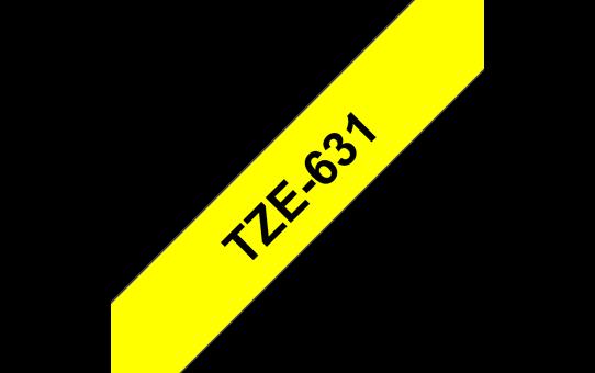 TZe-631 ruban d'étiquettes 12mm