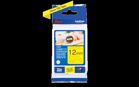 Casetă cu bandă de etichete originală Brother TZe-631S – negru pe galben de 12 mm lățime