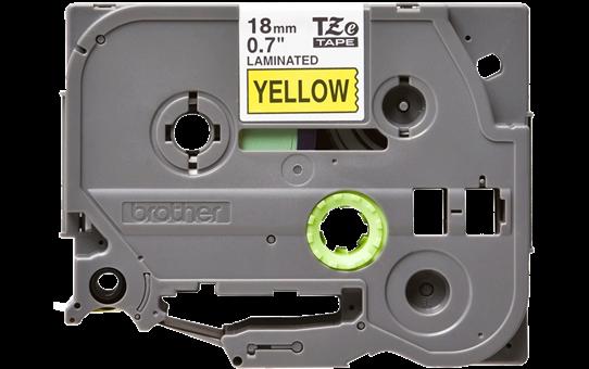 Original Brother TZe641 merketape – sort på gul, 18 mm bred 2