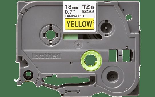 Original Brother TZe641 tape – sort på gul, 18 mm bred 2