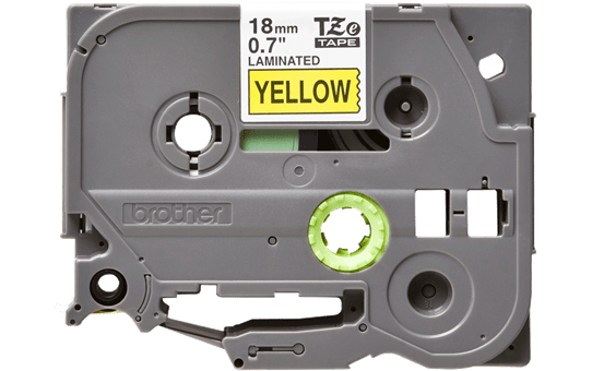 Genuine Brother TZe-641 Labelling Tape Cassette – Black on Yellow, 18mm wide 2