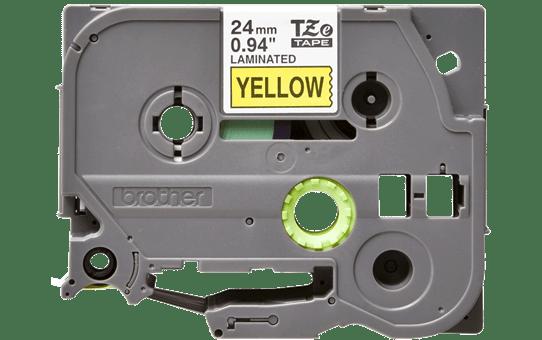 Original TZe-651 Schriftbandkassette von Brother – Schwarz auf Gelb, 24mm breit 2