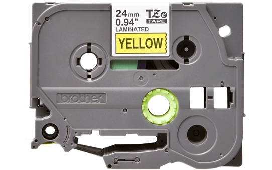 Eredeti Brother TZe-651 laminált szalag – Sárga alapon fekete, 24mm széles 2