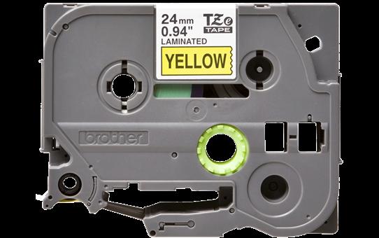 Brother TZe-651 - черен текст на жълта ламинирана лента, ширина 24mm 2