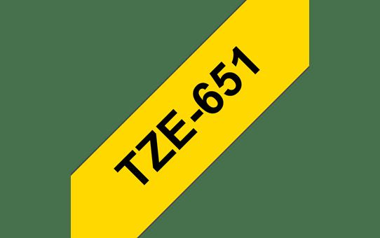 TZe-651 ruban d'étiquettes 24mm