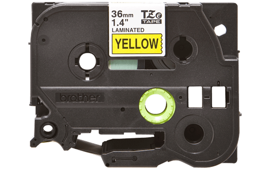 Genuine Brother TZe-661 Labelling Tape Cassette – Black on Yellow, 36mm wide 2