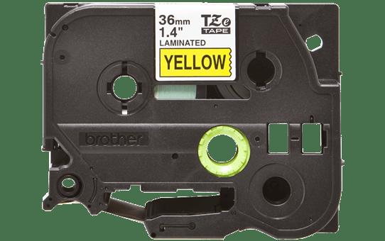 Brother TZe661: оригинальная кассета с лентой для печати наклеек черным на желтом фоне, ширина 36 мм.