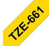 Genuine Brother TZe-661 Labelling Tape Cassette – Black on Yellow, 36mm wide