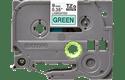 Original Brother TZe721 tape – sort på grøn, 9 mm bred 2