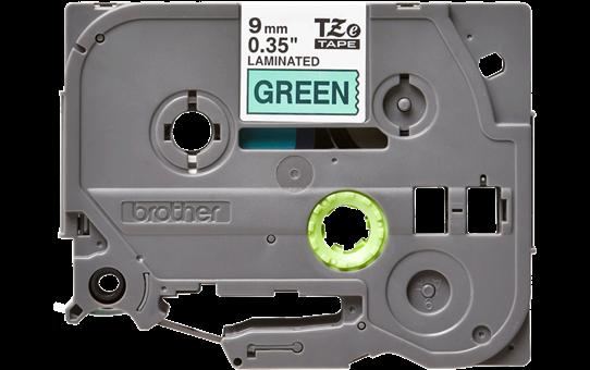 Original Brother TZe721 merketape – sort på grønn, 9 mm bred 2