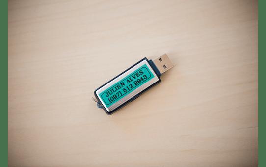 Originele Brother TZe-731 label tapecassette – zwart op groen, breedte 12 mm 4