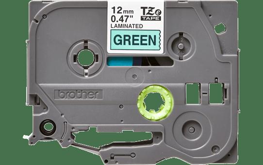 Originele Brother TZe-731 label tapecassette – zwart op groen, breedte 12 mm 2