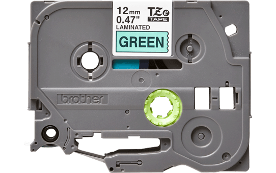 Genuine  Brother TZe-731 Labelling Tape Cassette – Black on Green, 12mm wide 2