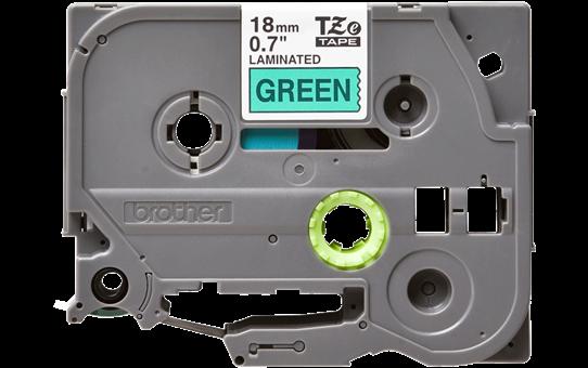 Original Brother TZe741 merketape – sort på grønn, 18 mm bred 2