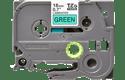 Brother TZe741 original etikettape, svart på grön, 18 mm