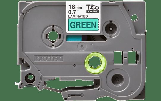 Brother TZe-741 - черен текст на зелена ламинирана лента, ширина 18mm 2