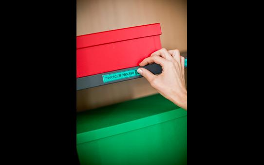 Originele Brother TZe-751 label tapecassette – zwart op groen, breedte 24 mm 4