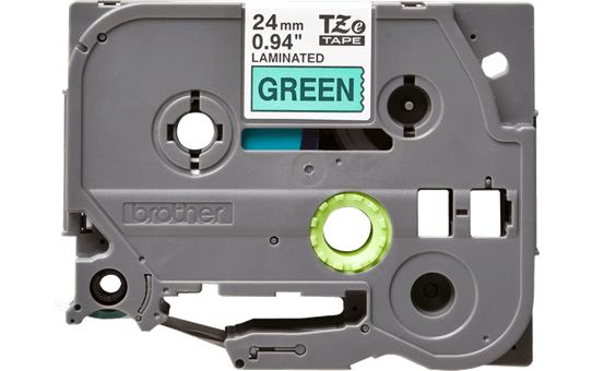 Brother TZe-751 - черен текст на зелена ламинирана лента, ширина 24mm 2