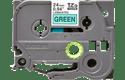 Oryginalna taśma TZe-751 firmy Brother – czarny nadruk na zielonym tle, 24mm szerokości 2