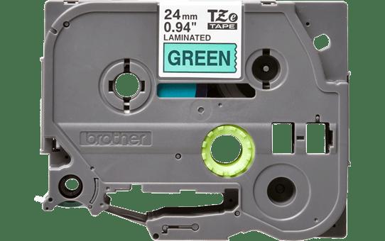 Original Brother TZe751 tape – sort på grøn, 24 mm bred 2