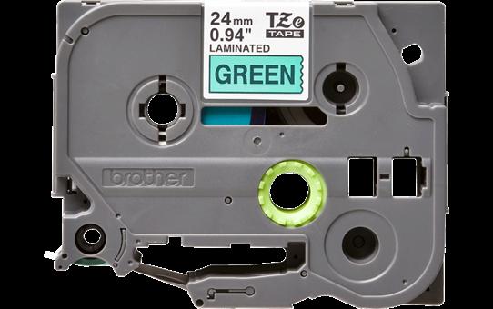 Alkuperäinen Brother TZe751 -tarranauha – musta teksti vihreällä pohjalla, 24 mm 2