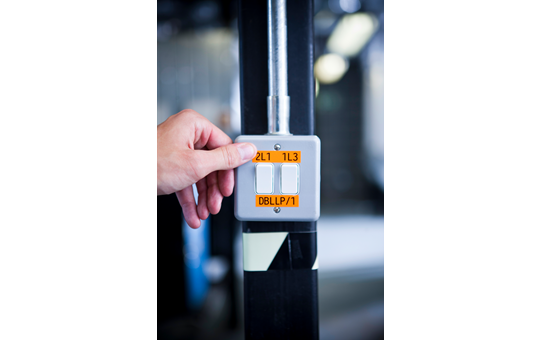 Originele Brother TZe-B31 tapecassette – fluorescerend oranje, breedte 12 mm 4