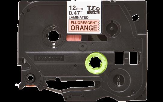 Brother TZe-B31 - черен текст на оранжева флуоресцентна лента, ширина 12mm 2