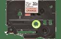 Oryginalna taśma fluorescencyjna TZe-B31 firmy Brother – czarny nadruk na pomarańczowym fluorescencyjnm tle, 12mm szerokości 2