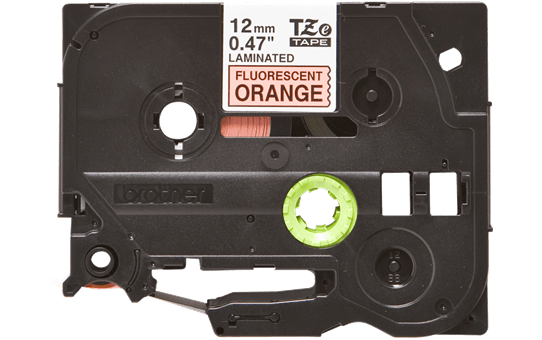 Original Brother TZe-B31 tape – neonorange, 12 mm bred 2