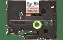 Cassetta nastro per etichettatura originale Brother TZe-B51 – Nero su arancione fluorescente, 24 mm di larghezza